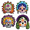 Day Of The Dead Masks Party Accessory 1 count 4Pkg