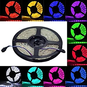 IMOS RGB Waterproof 5050 300leds 5M(16.4ft) LED Flexible Strip Lights from Allround Housewife