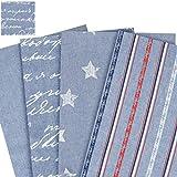 Jeans toile 100% coton /matériau de décoration et tissu d'ameublement - imprimé - marchandise au mètre - 2,80m de large Jeans - Letters