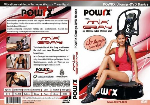 "POWRX Vibrationstrainings Übungs-DVD ""Basics"" - Vibrationsplatte - Vibration Plate - POWRX mit Mia Gray"