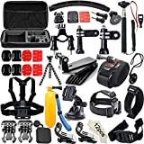 Soft Digits 50-In-1 Outdoor Sports Action Camera Accessories Kit for GoPro Hero4/3/2/1 Common Camcorder Bundles for SJCAM SJ4000 5000 6000 7000 Xiaomi Yi Amkov Git1 Git2