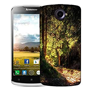 Snoogg Falling Sun Light In Forest Designer Protective Phone Back Case Cover For Lenovo S920