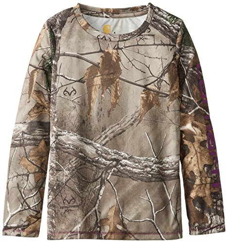 Carhartt Little Girls' Force Long Sleeve Camo Top, Realtree Xtra, 6X front-964138