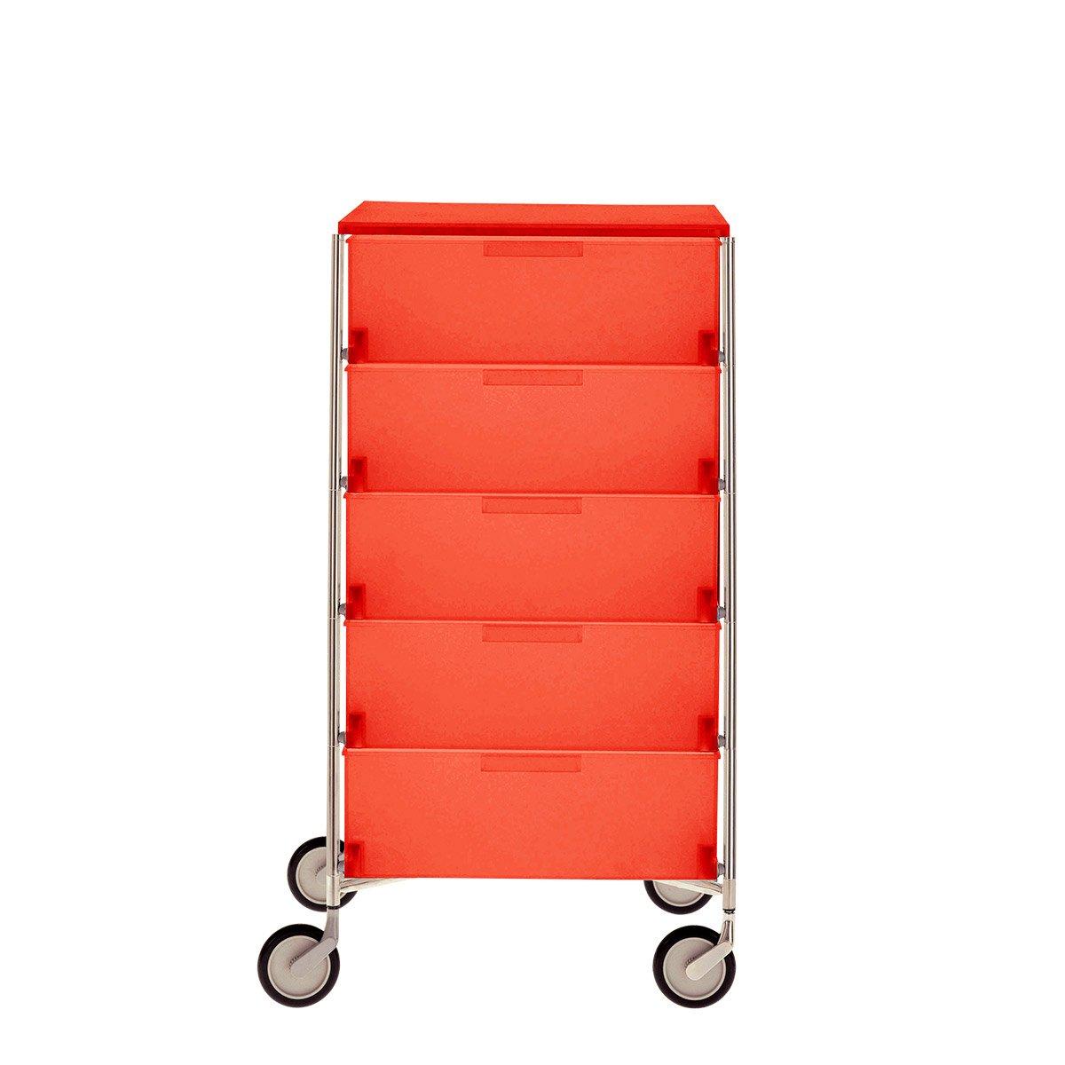 Kartell 2034L2 Container Mobil, 5 Schubladen, kobaltblau