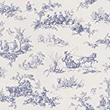 Rasch Lazy Sunday Blue Toile de Jouy Paste the Wall Wallpaper