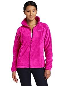 Columbia Women's Benton Springs Full Zip Fleece Jacket, Groovy Pink, Large