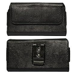 DMG Leather Pouch Belt Clip Holster Case for HTC Radar (Black)