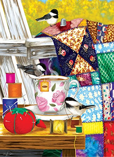 Afternoon Quilt Mending 500+ Piece Jigsaw Puzzle by Sunsout Inc.