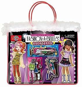 T.S. Shure T.S. Shure Fashion A Belles Rockstar Wooden Magnetic Dress Up Dolls
