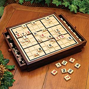 Bits and Pieces Bits and Pieces Wooden Sudoku Game Board