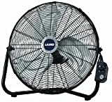 Lasko 2264QM 20-Inch Max Performance High Velocity Floor/Wall mount Fan, Black