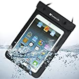 SumacLife Waterproof Case Dry Bag Pouch for Samsung Galaxt Tab 3 Tab 4 7 inch 8 inch / Samsung Note 8.0 / Apple ipad mini (Black)