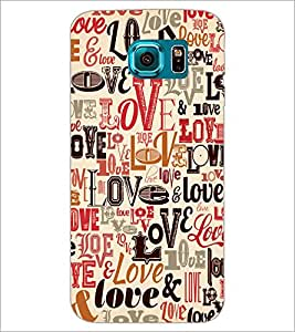 PrintDhaba Typography D-5620 Back Case Cover for SAMSUNG GALAXY S6 EDGE (Multi-Coloured)