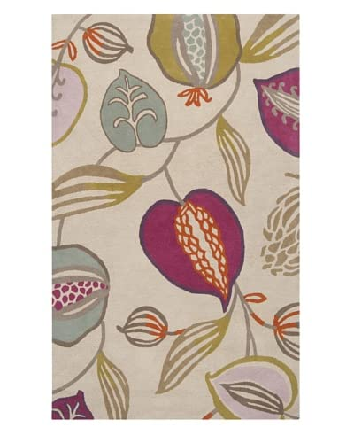 Surya Harlequin Rug, Beige/Gray/Burnt Orange, 5' x 8'