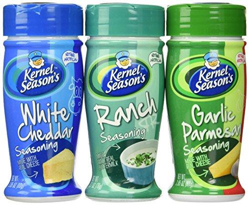 Kernel Season's Popcorn Seasoning Variety Pack of 3 Ranch Parmesan & Garlic and White Cheddar (Salt Popcorn compare prices)