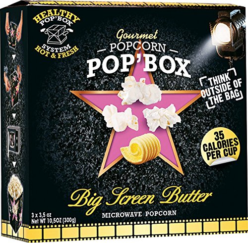Pop'Box Microwave Popcorn Ultimate Butter, 3.5 Ounce (Pack of 6) NON GMO & PFOA Free (Popbox Popcorn compare prices)