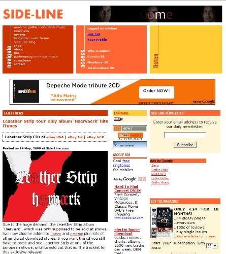 Side-Line - electro / industrial / goth music news