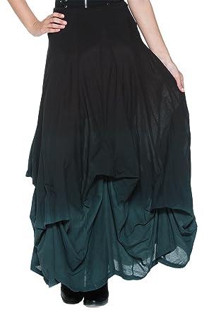 Women's Black Gray Ombre Victorian Goth Steampunk Bustle