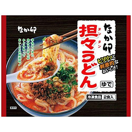 なか卯 担々うどん(坦々うどん) 4食入り [548グラム(めん200グラム×2)×2袋] 冷凍食品