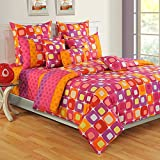 Swayam Colors of Life Printed Cotton 4 Piece Bedding Set - Multicolor (TSS04-2414)