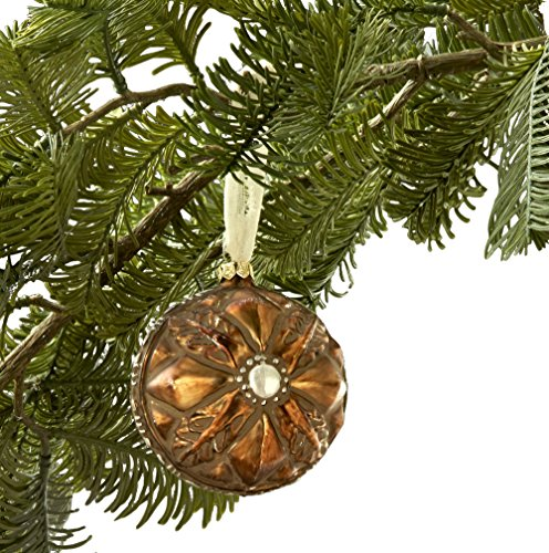 Sage & Co. XAO16943GD Glass Tarnished Ball Ornament, 3-Inch