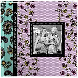 Pioneer Designer Raised Frame Cover Photo Album, Paisley