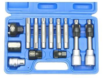 famex 14518 mallette mallette d 39 outils 13 pi ces pour le d montage de de la poulie d. Black Bedroom Furniture Sets. Home Design Ideas