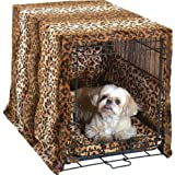Pet Dreams Plush Cratewear Set Leopard Fits 30-Inch Crates, 3-Piece