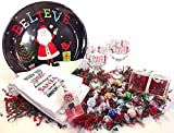 Lindt Deluxe Wine & Gourmet Chocolate Candy Lovers Christmas Holiday Gift Basket Bowl Gift Set (SC)