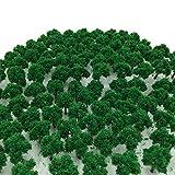 森林 選べる 色 数量 50本 100本 【DauStage】 Nゲージ ジオラマ 鉄道 建築 模型 用 樹木 風景 3㎝ (03,緑 50本)