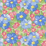 "Blue Rose Floral Series F0220 Vinyl Tablecloth 54"" x 45' Roll"
