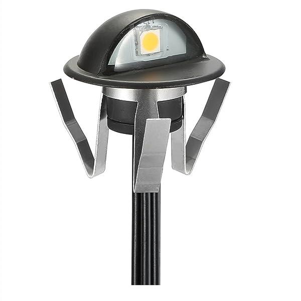FVTLED RGB Low Voltage LED Deck Lights kit Dia. 1.38 Outdoor Garden Yard Decoration Lamp Recessed Landscape Pathway Step Stair Muti-Color LED Lighting, Black (Color: Rgb (Black), Tamaño: 1pcs)