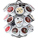 K-Cup Carousel, Hold 27 Coffee or Tea K-Cup Pods. By Lily's Home (Chrome)