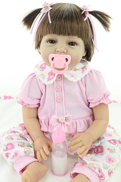 22inche 55CM Reborn Bebe Fille Poupée Baby Doll Souple Silicone Vinyle Cher Jouets