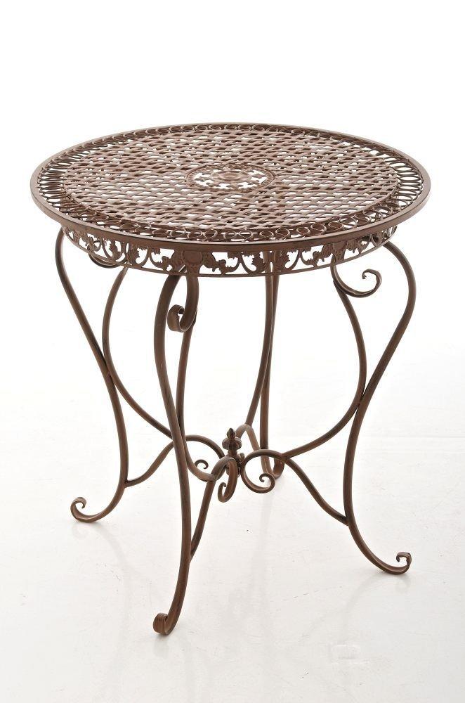 CLP Eisen-Tisch LIVIANA, Metall, nostalgisches Design, rund Durchmesser Ø 68 cm, Farbwahl antik braun kaufen