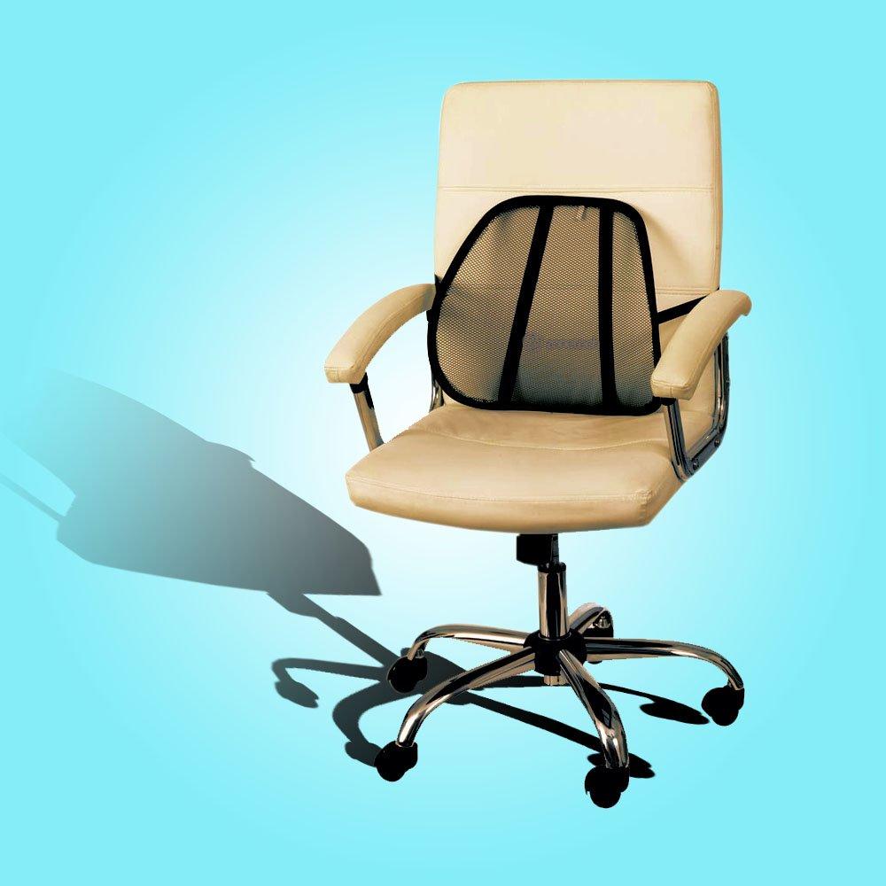 cushion mesh back lumbar support car office chair truck seat ebay