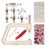 Hand Press Pearl Setting Machine Tools Beads Rivet Fixing Machine for DIY Crafts Supplies£¬Send no Holes Imitation Round Pearl 2 boxesAccessories Tools for Bracelets Necklaces with Cord (Color: pearl setting machine)