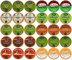 30-count TOP BRAND DECAF COFFEE K-Cup Variety Sampler Pack, Single-Serve Cups for Keurig Brewers