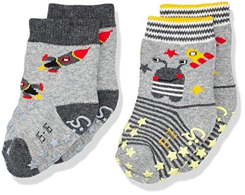 Sterntaler Baby-Jungen Socken Abs-Krabbelsöckchen DP Rakete, Grau (Silber Melange 542), 20