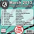 All Star Karaoke March 2013 Pop and Country Hits B (ASK-1303B) by All Star Karaoke