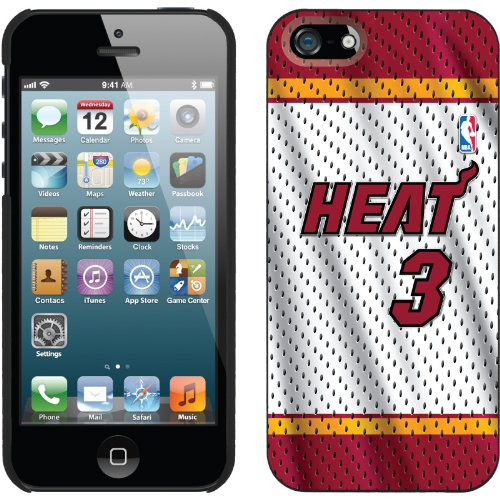 Best Price Dwyane Wade - Home Jersey Front design on a Black iPhone 5s / 5 Thinshield Snap-On Case by Coveroo