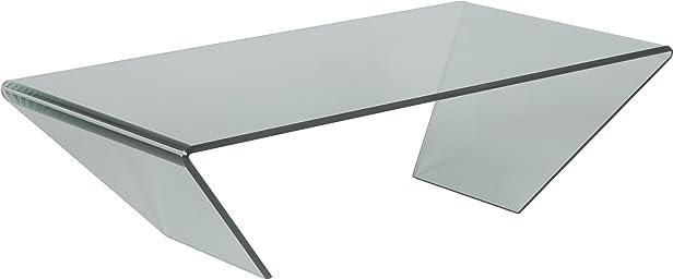 Tavolino design vetro curvo
