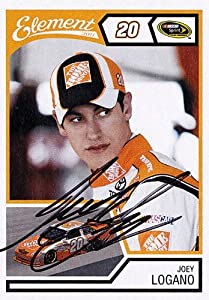 Buy AUTOGRAPHED Joey Logano 2011 Wheels Element #20 THE HOME DEPOT TEAM (Gibbs Racing) NASCAR SIGNED Trading Card w  COA by Trackside Autographs