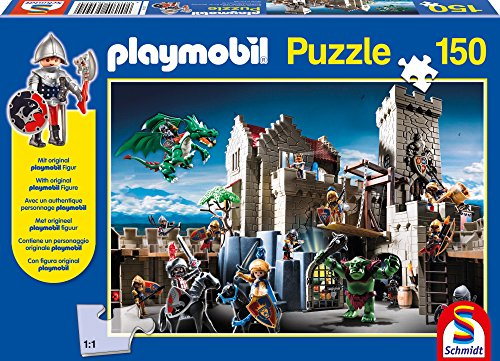 SCHMIDT Play Mobil Royal Treasure Children's Puzzle (150-Piece) - 1