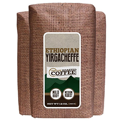 12-Ounce Bags, Ethiopian Yirgacheffe, Whole Bean Coffee, Fresh Roasted Coffee Llc.(Pack Of 3 Whole Bean)