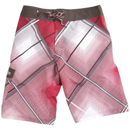 Plusminus Sunny Mens Board Shorts - S, Red