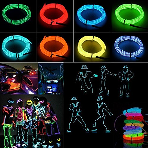 KingSo 1x Blue 5M Color Flexible EL Wire Neon