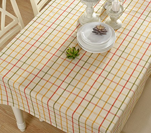 Eforcurtain fashion checkered rectangle table cover cotton for Table runners 52 inches