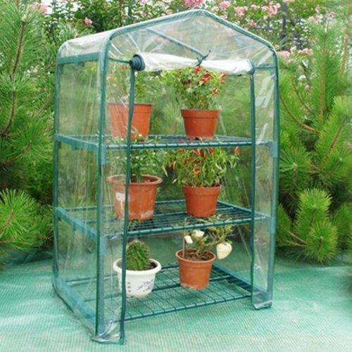 Telo di ricambio per serra a 3 ripiani in pvc da giardino for Mini serra da balcone