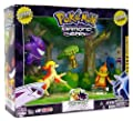 PokeMon Diamond an Pearl Exclusive 5 Pack Figure Set - Forest Scene Playset with Ponyta, Carnivine, Chatot, Buizel and Gengar by Game Freak
